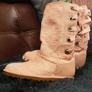 Authentic UGG pink heirloom boots